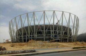 egypt-iraq-stadium-project-steel-IPE-structural-bearing-EPDM-teflon-PTFE-Plate-uplift